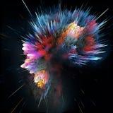 Kosmischer Hintergrund der bunten Galaxiezusammenfassung Glänzendes Fantasieuniversum Tiefer Kosmos Unendlichkeitserforschung Abb Lizenzfreies Stockbild