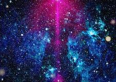 Kosmischer Hintergrund der Milchstraße Sternstaub- und -Feenstaubfunkelnraumhintergrund Raumsterne und Planetenbegriffsbild Stockbild