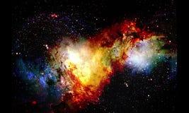 Kosmischer Raum und Sterne, Farbkosmischer abstrakter Hintergrund und grafischer Effekt stock video