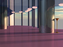 Kosmisches Innencafé Stockfotos