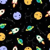Kosmisches Muster mit Konstellation Lizenzfreies Stockbild