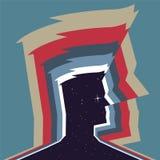 Kosmisches Profil des Mannes Lizenzfreies Stockfoto
