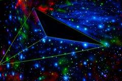 kosmisk abstrakt bakgrund Arkivbilder