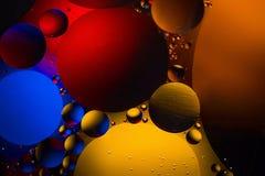 Kosmisk abstrakt bakgrund för utrymme- eller planetuniversum Abstrakt molekylsctructure Makroskott av luft eller molekylen Royaltyfri Foto