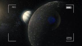 Kosmisk konst, sciencetapet Skönhet av djupt utrymme Miljarder av galaxer i universumet Planet för gasjätte stock video