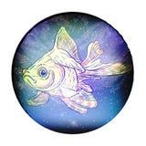 kosmisk konstellation för fisk av fisken vektor arkivfoton