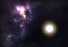 kosmisk nebula Fotografering för Bildbyråer