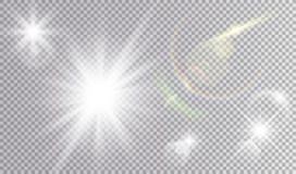 Kosmisk uppsättning för ljusa effekter stock illustrationer