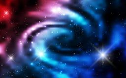 Kosmiska bakgrundsgalaxer, nebulosa och glänsande stjärnor Arkivfoto