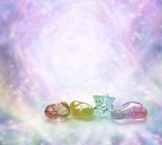 Kosmiska läka kristaller Arkivfoto