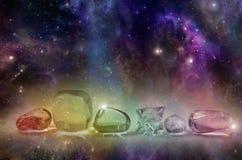 Kosmiska läka kristaller Royaltyfri Fotografi
