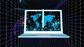 Kosmiska telekommunikationteknologier Internet arkivfilmer