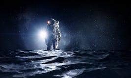 Kosmita w morzu Mieszani środki Obraz Royalty Free