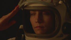 Kosmonauta Żeński salut zbiory wideo