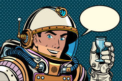 Kosmonauta grzanki świętowanie ilustracja wektor