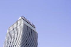 Kosmopoliten av Las Vegas på remsan i dagen Tid Arkivfoto