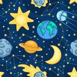 kosmos bezszwowa wzoru Zdjęcia Stock