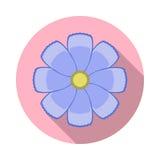 Kosmos-Blumen-flache Ikone mit Schatten Stockbilder