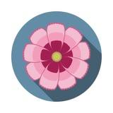 Kosmos-Blumen-flache Ikone mit Schatten Lizenzfreies Stockfoto
