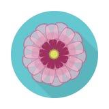 Kosmos-Blumen-flache Ikone mit Schatten Lizenzfreie Stockfotos