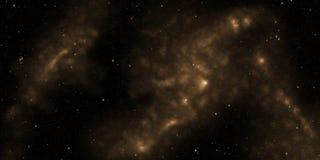 Kosmos, gwiazdy i nebulas, Fantastyka naukowa tło ilustracji