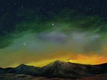 Kosmos - het Digitale Schilderen van het Landschap Royalty-vrije Stock Foto