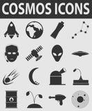 Kosmos ikona Fotografia Stock