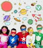 Kosmos ikony Rysuje grafiki pojęcie zdjęcia stock