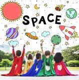 Kosmos ikony Rysuje grafiki pojęcie Obraz Stock