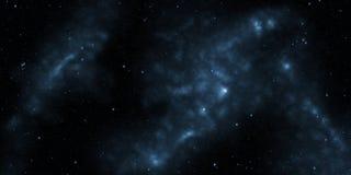 Kosmos med stjärnor och nebulas Science fictionbakgrund royaltyfria bilder