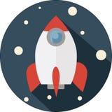 Kosmos rakieta, wektor, początek Zdjęcie Royalty Free