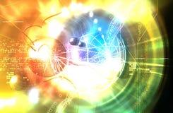 kosmos rozjarzona ilustracja wektor