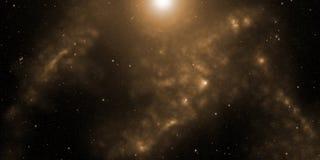 Kosmos, stjärnor och nebulas Science fictionbakgrund royaltyfri bild