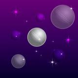 Kosmos und die Planeten- grau und Purpurrotefarbe Lizenzfreie Stockbilder
