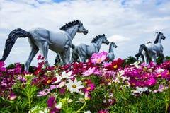 Kosmos und Pferd Stockfotos