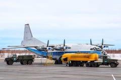 Kosmosluchtvaart Antonov een-12B stock foto