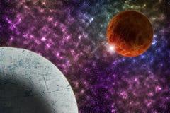 Kosmoso, science fictionbehang De schoonheid van een grote kosmos Royalty-vrije Stock Afbeeldingen
