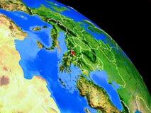 Kosovo auf Planet Erde stock abbildung