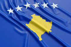 Kosovo flag Stock Photo