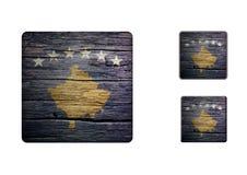 Kosovo flaggaknappar Arkivbild