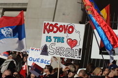 Kosovo independence protest Royalty Free Stock Image
