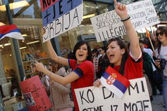 Kosovo independence protest Royalty Free Stock Photography