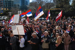 Kosovo independence protest Royalty Free Stock Photos