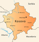 Kosovo map Royalty Free Stock Image