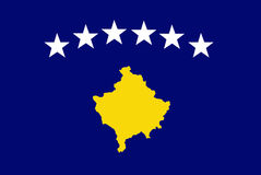 Kosovo-Markierungsfahne Beamter stock abbildung