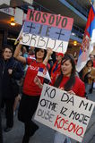 Kosovo-Unabhängigkeit-Protestierender Lizenzfreie Stockfotografie