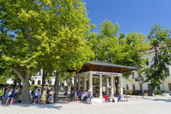 Kossuth Lajos Fountain in Balatonfured Royalty Free Stock Photo