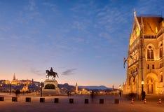 Kossuth Lajos square, Budapest stock image