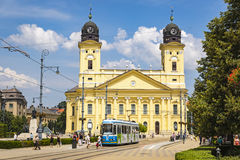 Kossuth square in Debrecen city, Hungary Royalty Free Stock Photo