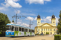 Kossuth square in Debrecen city, Hungary Royalty Free Stock Photography